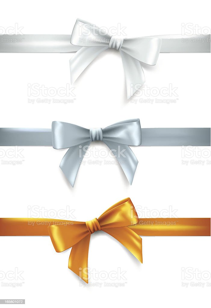 Gift bows vector art illustration