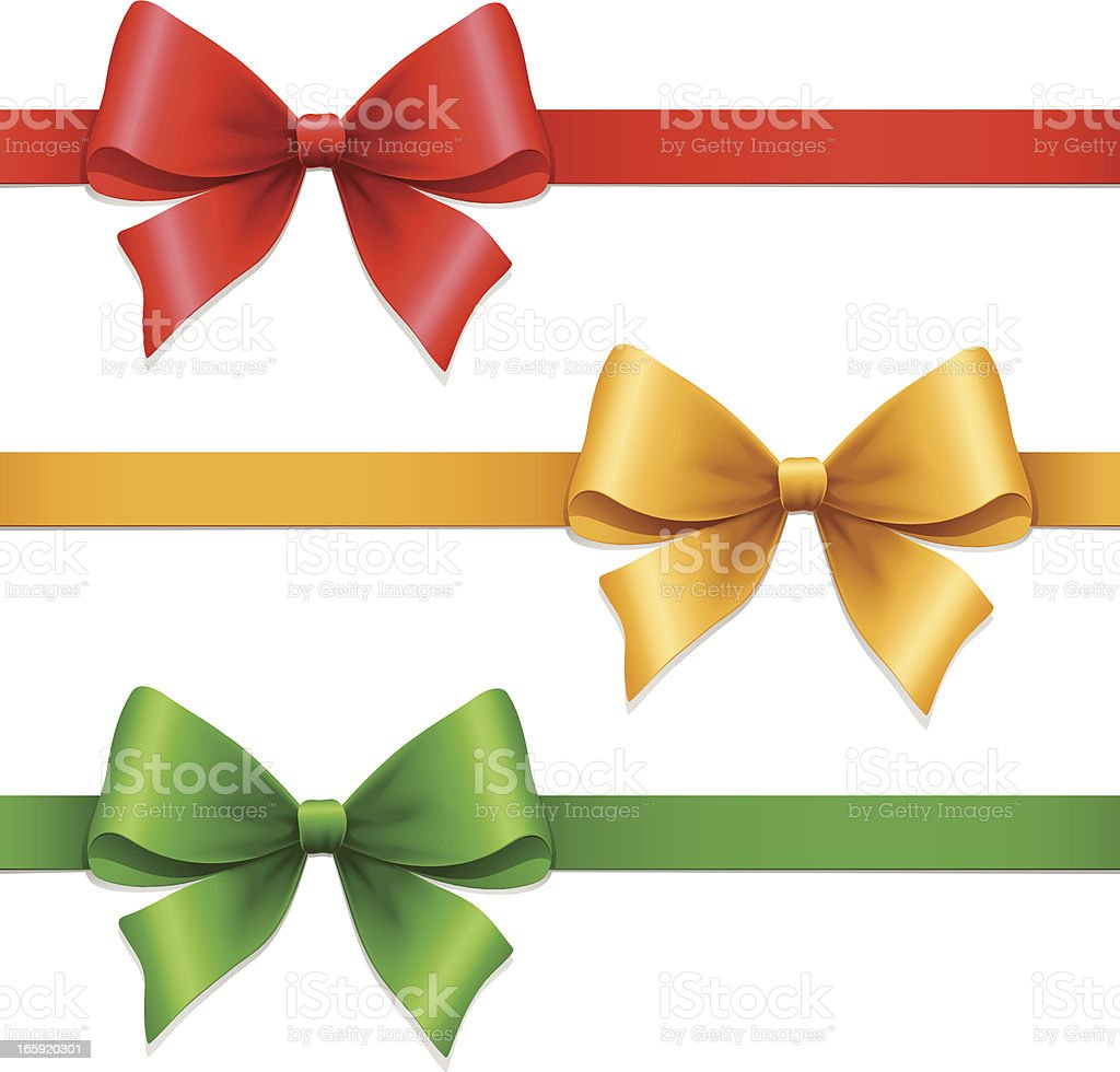 Gift Bows royalty-free stock vector art