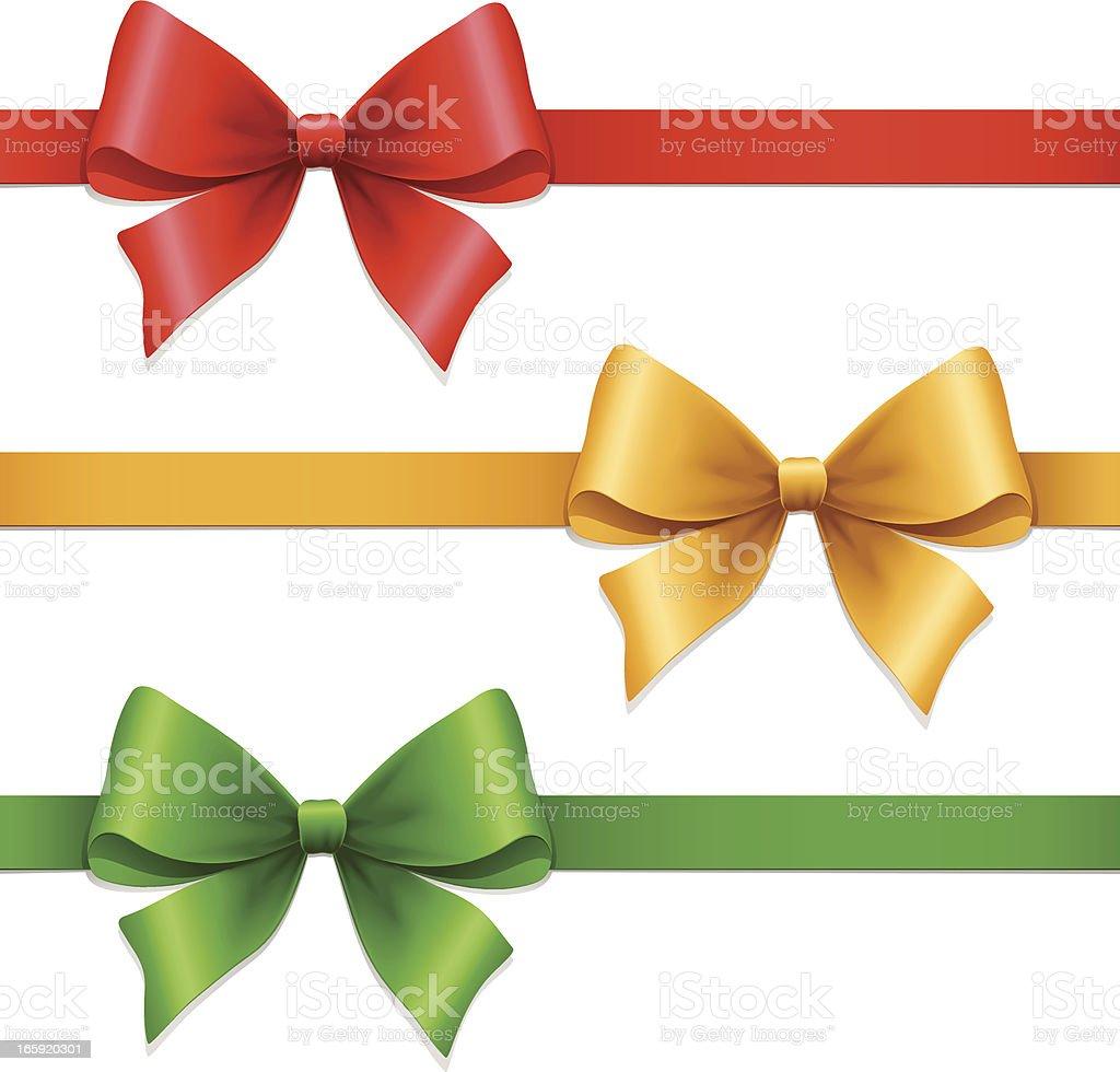 Gift Bows vector art illustration