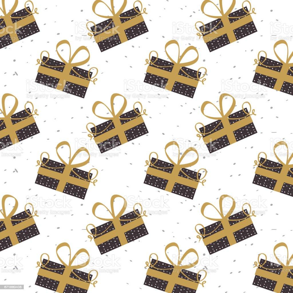 gift box background vector art illustration