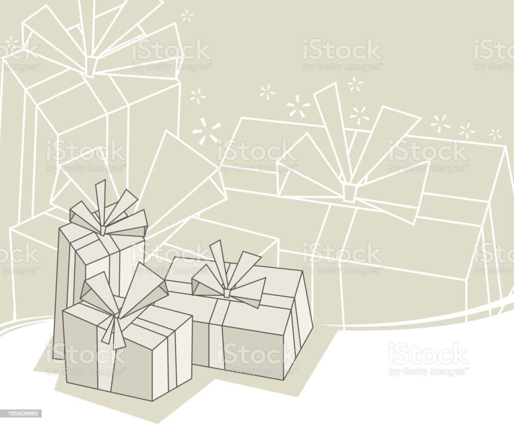 gift box backround vector art illustration