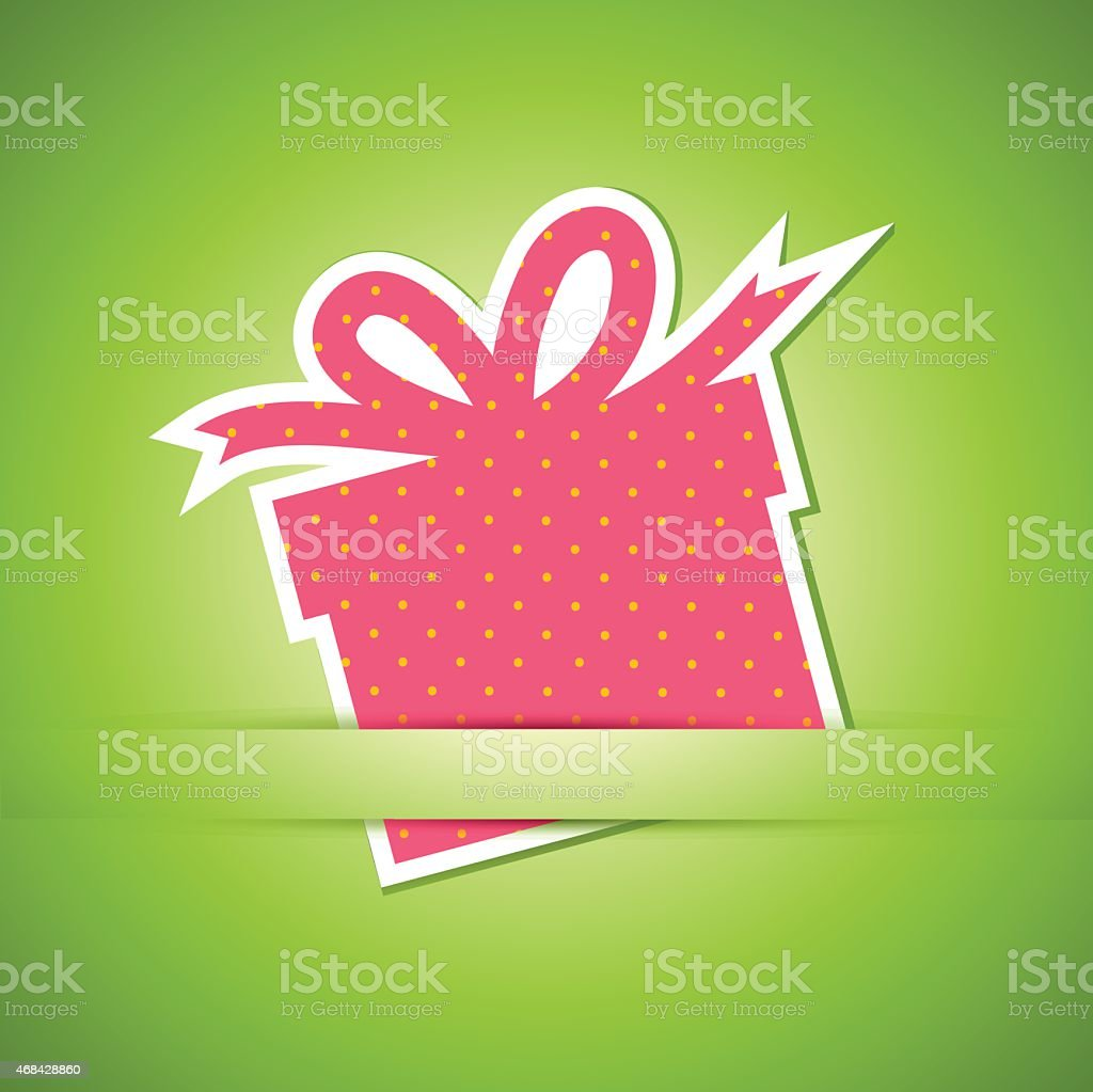 Gift box card vector art illustration