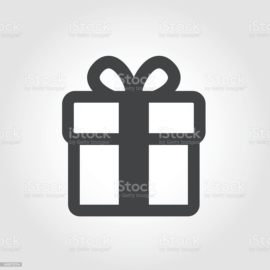 Gift Box Icon - Iconic Series vector art illustration