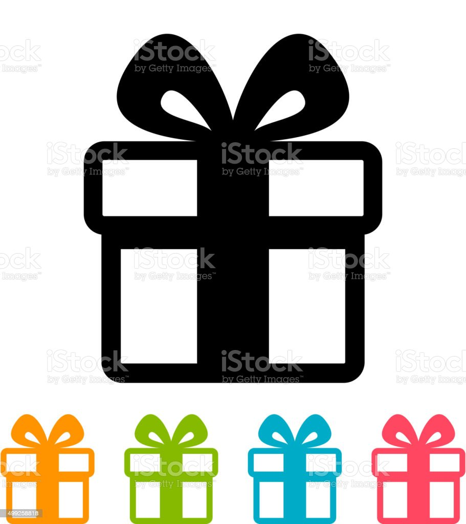 Gift box icon vector art illustration