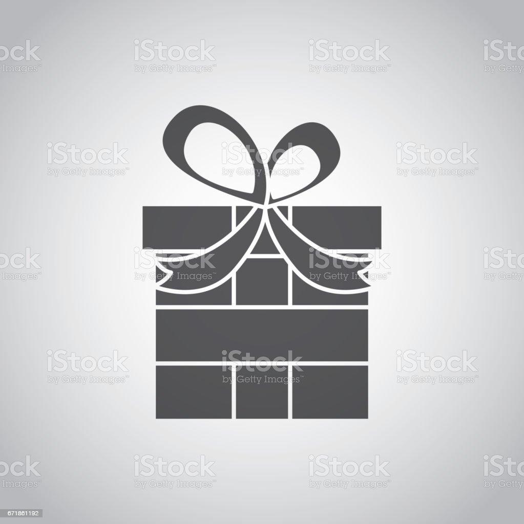 gift box icon vector art illustration