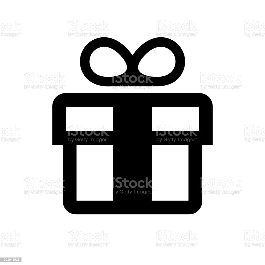 Gift Box Icon. Vector royalty-free stock vector art