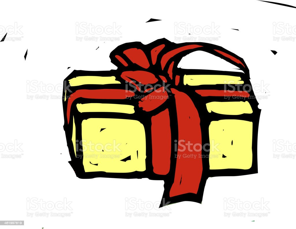 Gift box is placed royalty-free stock vector art