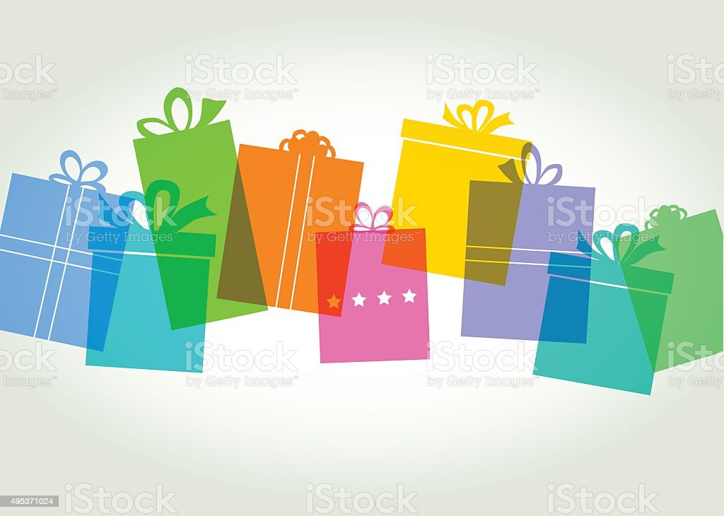Gift box - Present vector art illustration