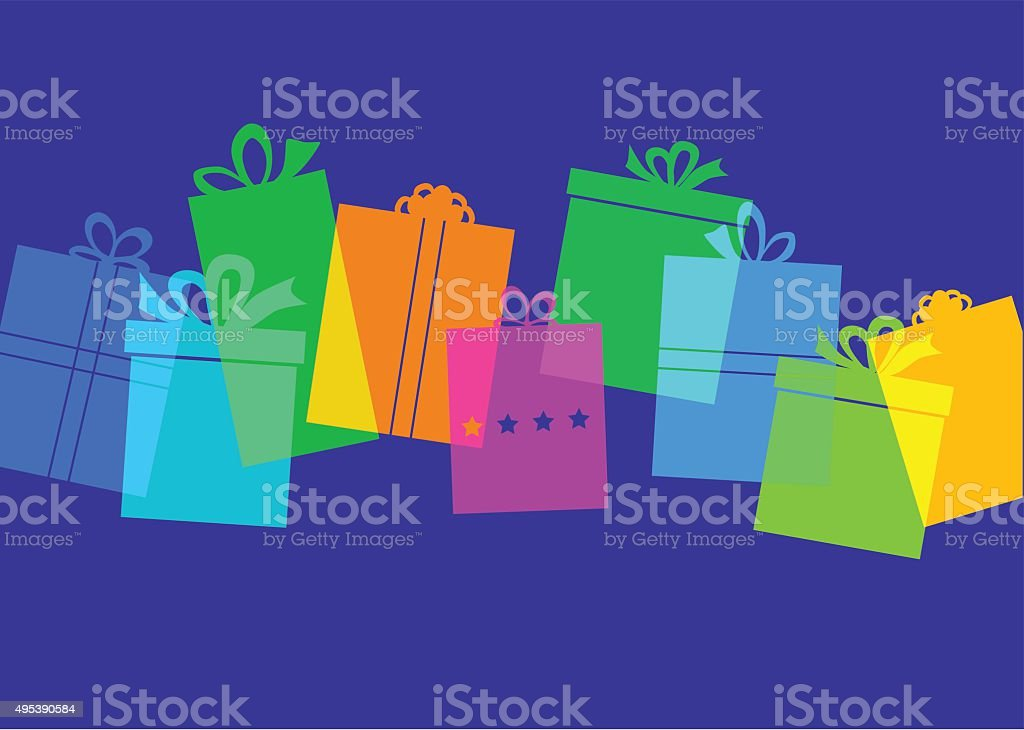 Gift box - Present vector art illustration