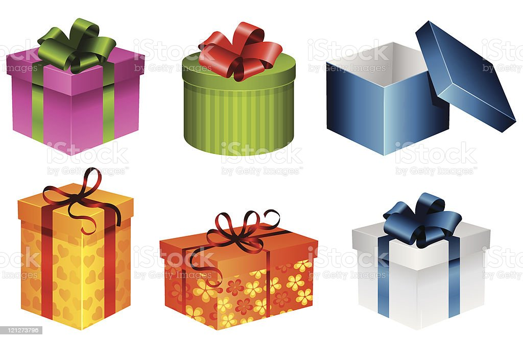 gift box set royalty-free stock vector art
