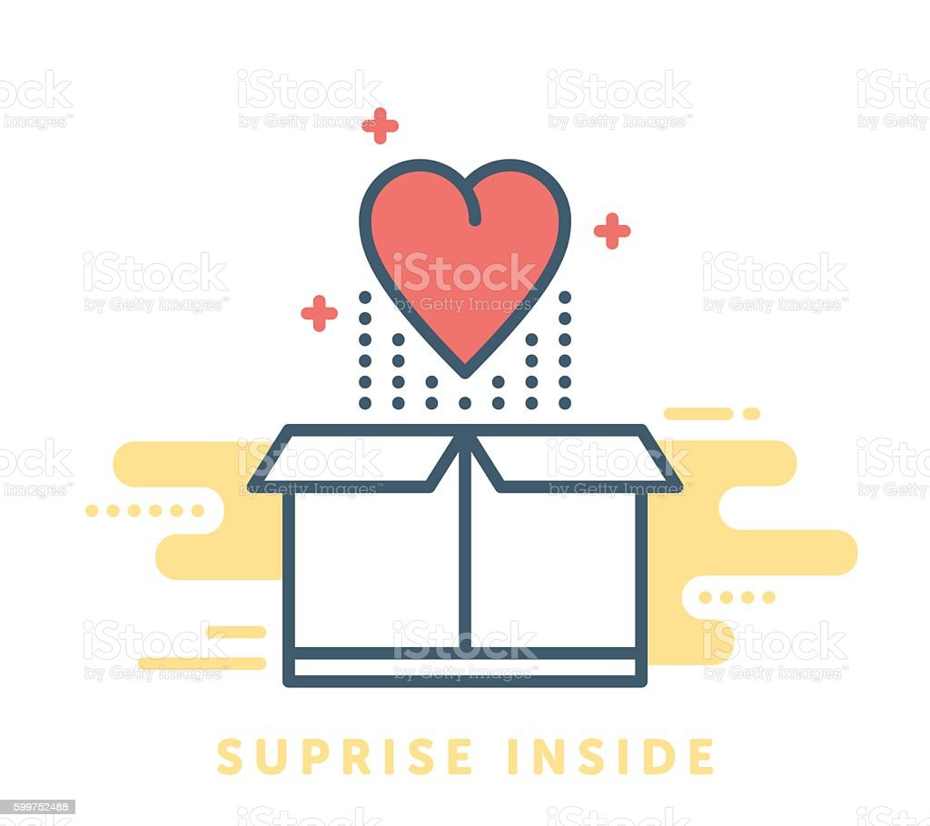 Gift Box Symbol vector art illustration