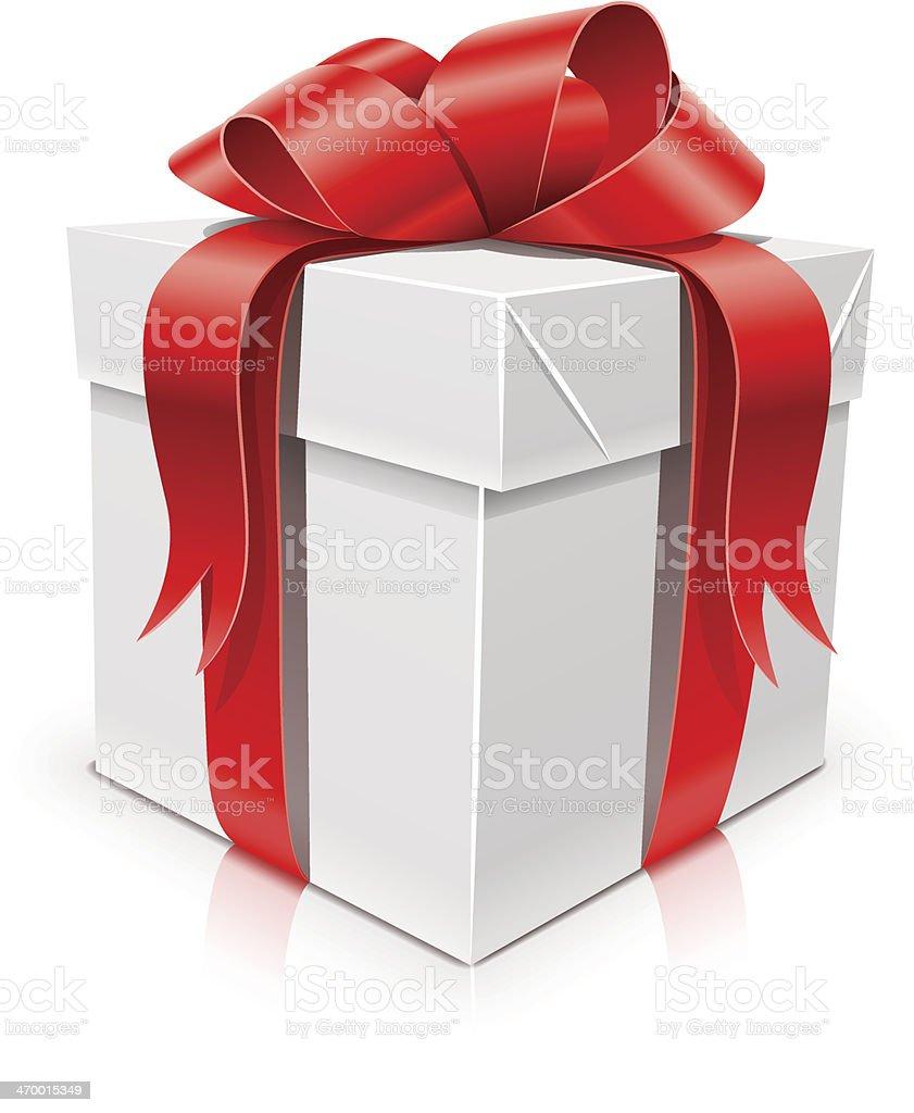 Pudełko na prezent z kokardą stockowa ilustracja wektorowa royalty-free
