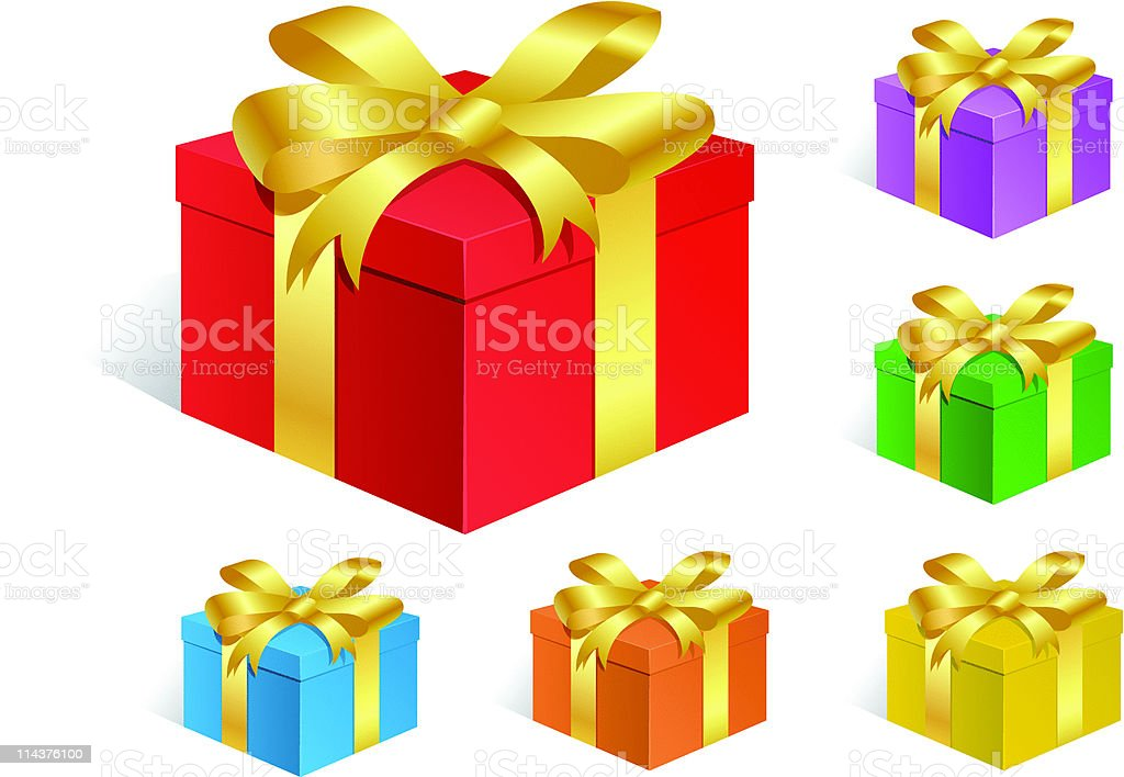 Gift Boxes royalty-free stock vector art