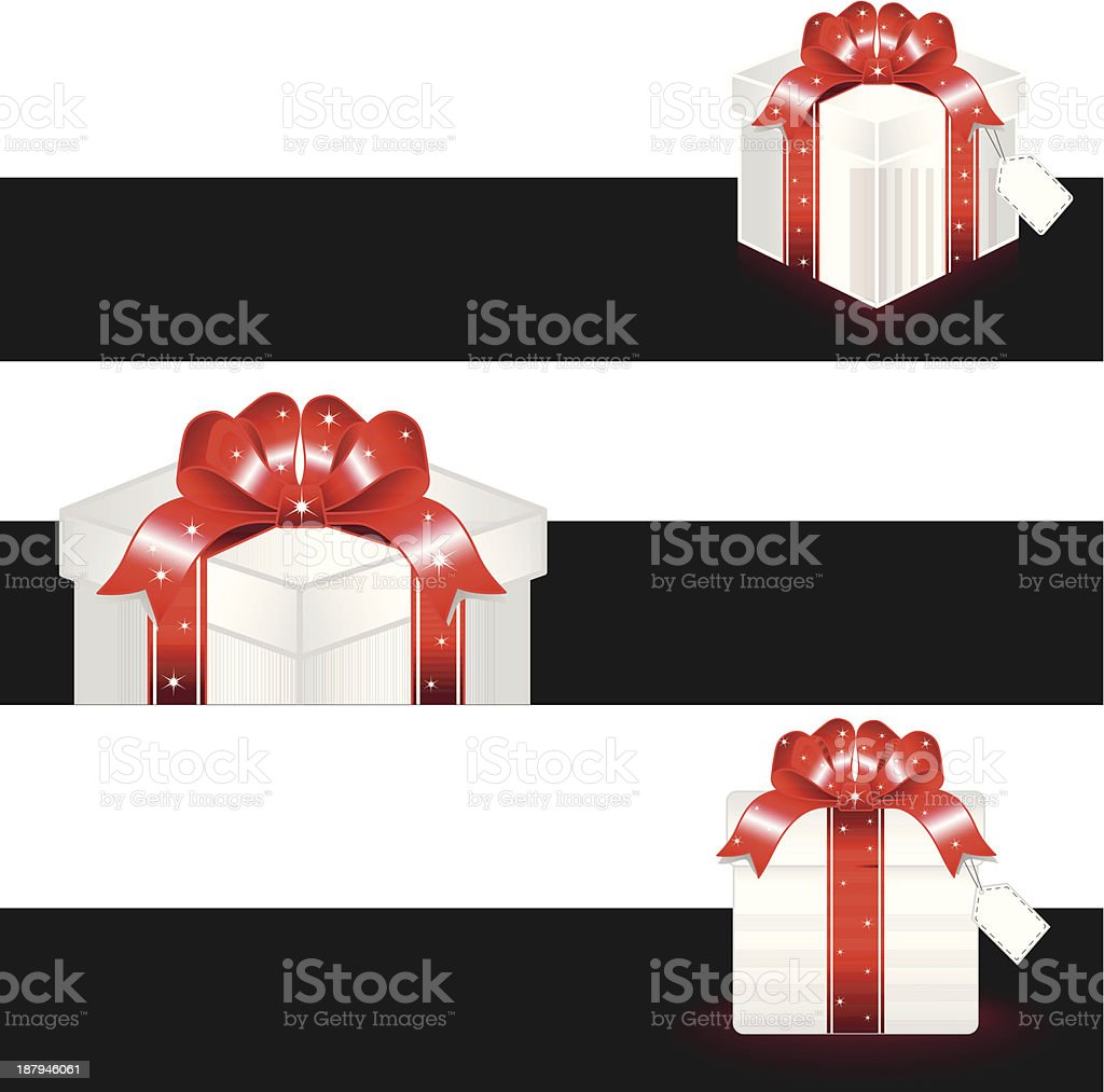 Gift Box+Shopping royalty-free stock vector art