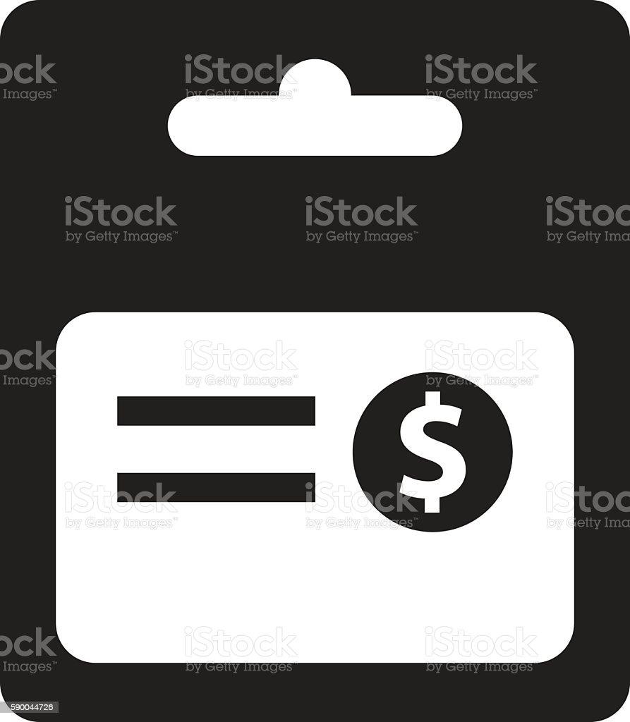 Gift Card Icon vector art illustration
