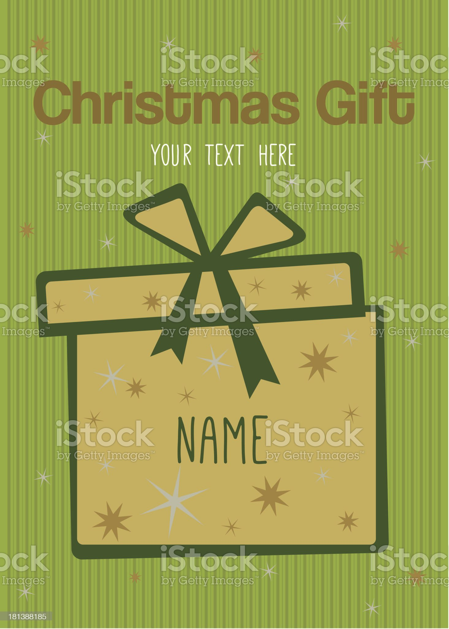 Gift card royalty-free stock vector art