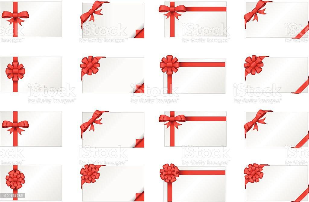 Gift card vector art illustration