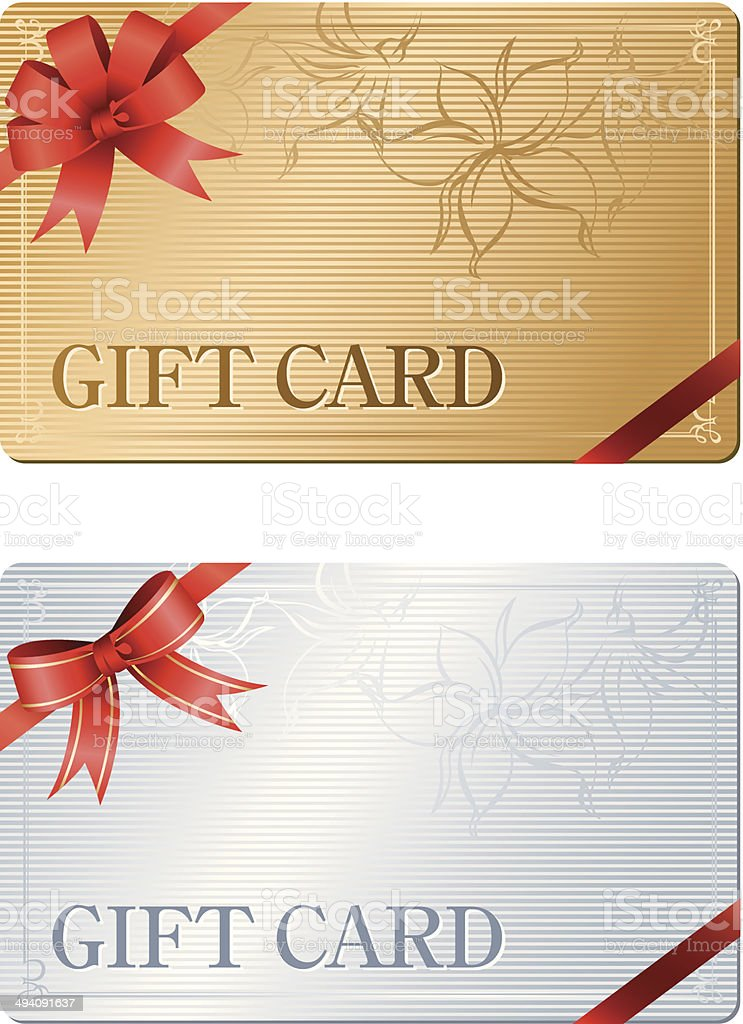 Gift Card Vector vector art illustration