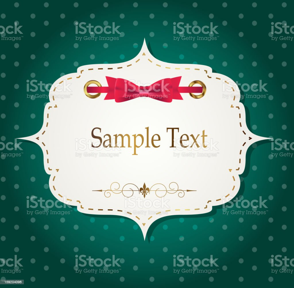 gift card with ribbons, design elements. Vector illustration royalty-free stock vector art