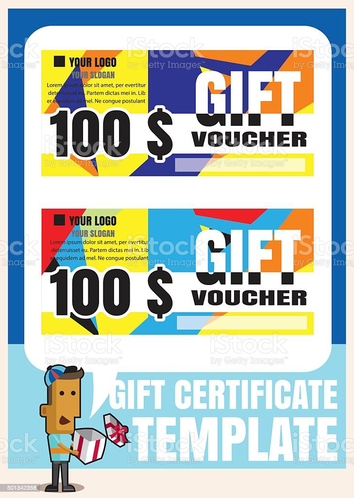 Gift Certificate Voucher Coupon Template Modern Stylegift Vouch