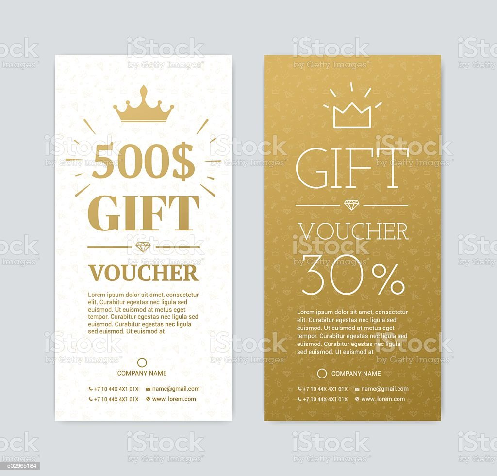 gift certificate with gifts vector art illustration