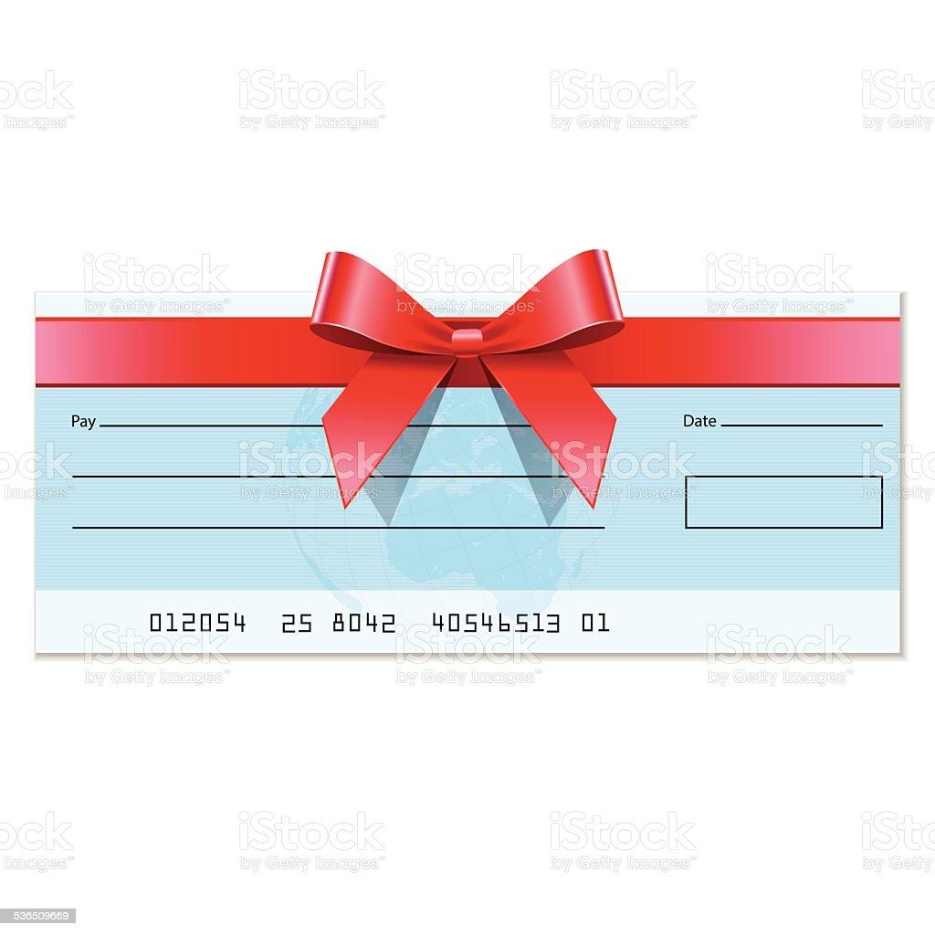 Gift cheque vector art illustration
