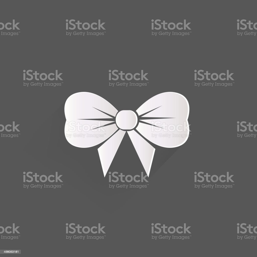 Gift, Christmas bow web icon vector art illustration