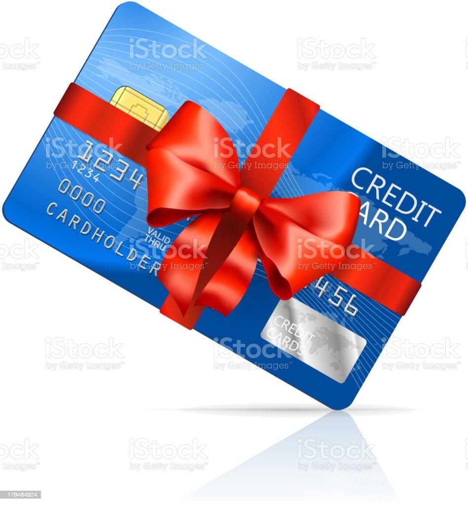 Gift Credit Card vector art illustration