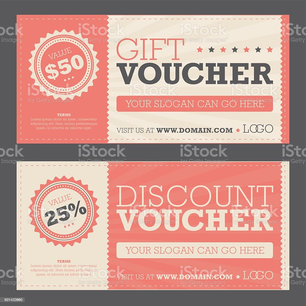 Gift & Discount Voucher vector art illustration
