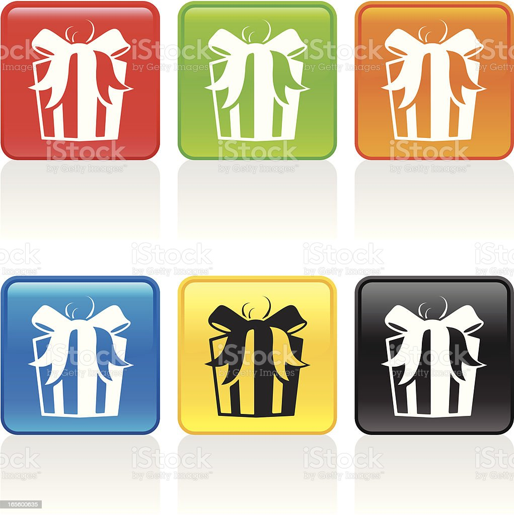 Gift II Icon royalty-free stock vector art