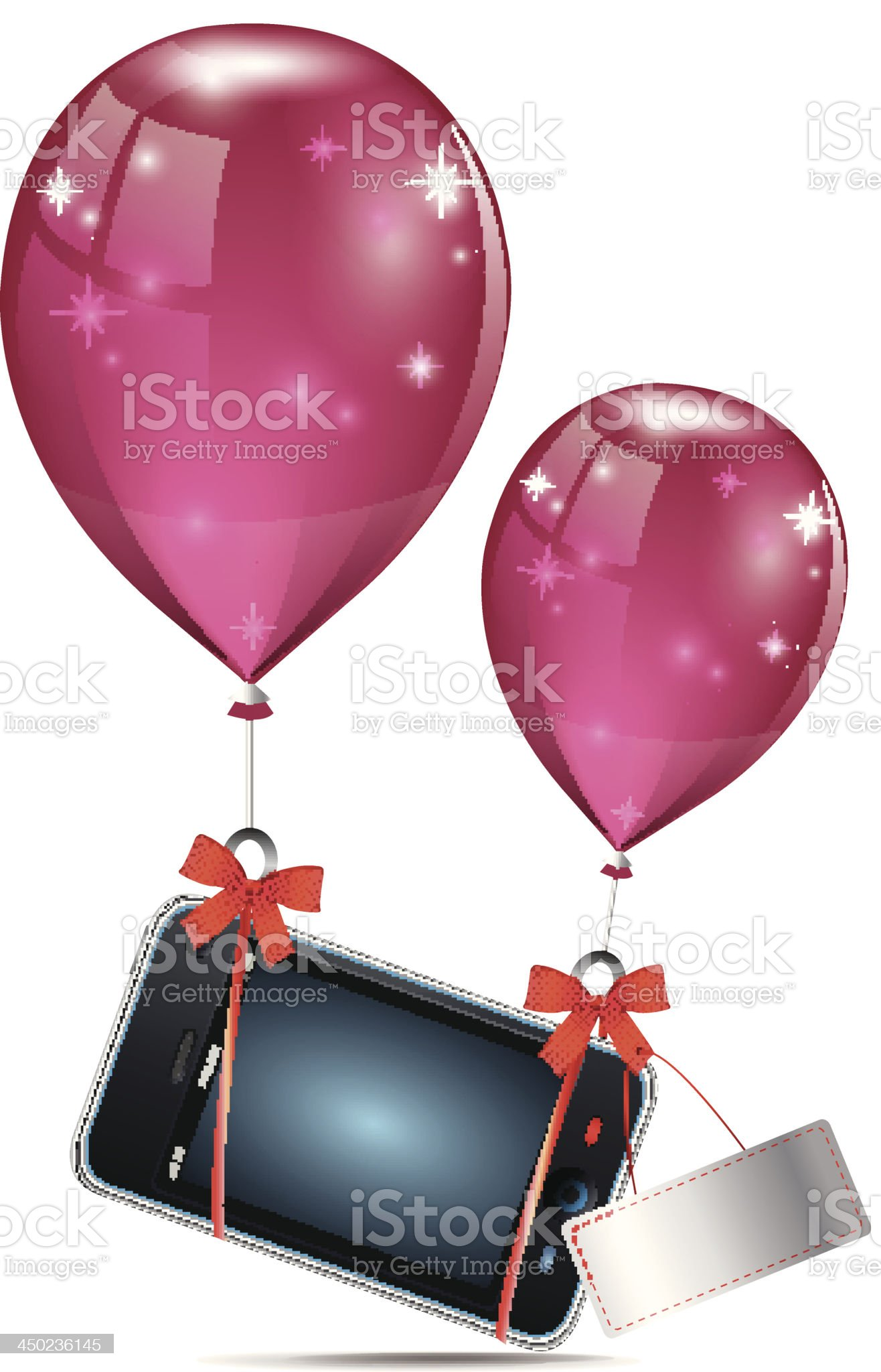 Gift Mobile Phone royalty-free stock vector art
