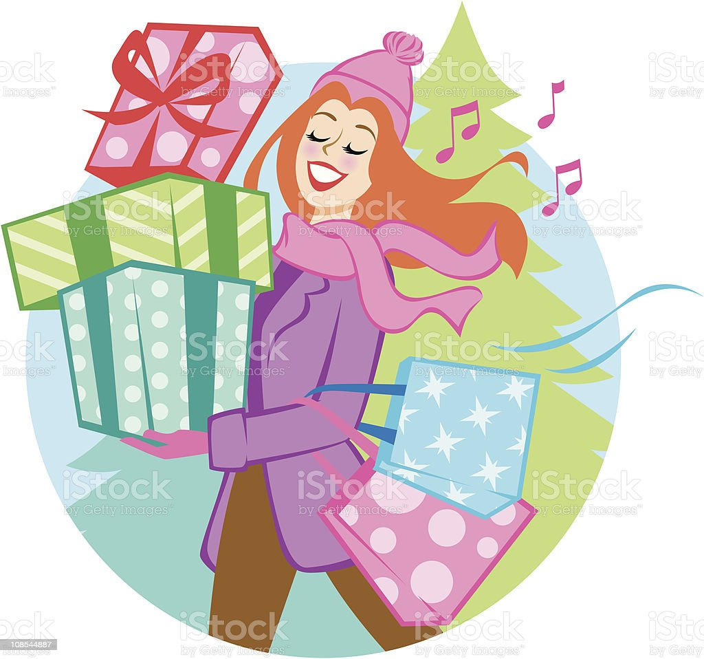 Gift of Giving royalty-free stock vector art