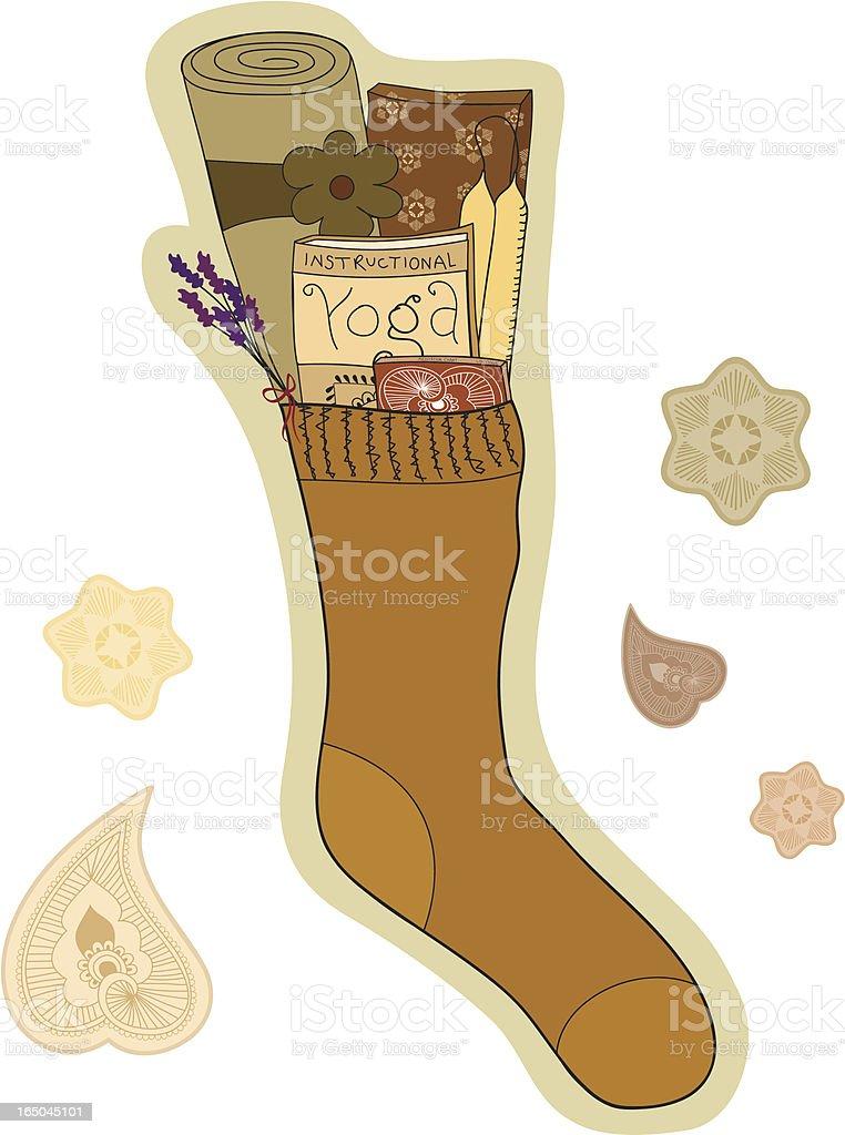 Gift of Yoga (Vector) vector art illustration