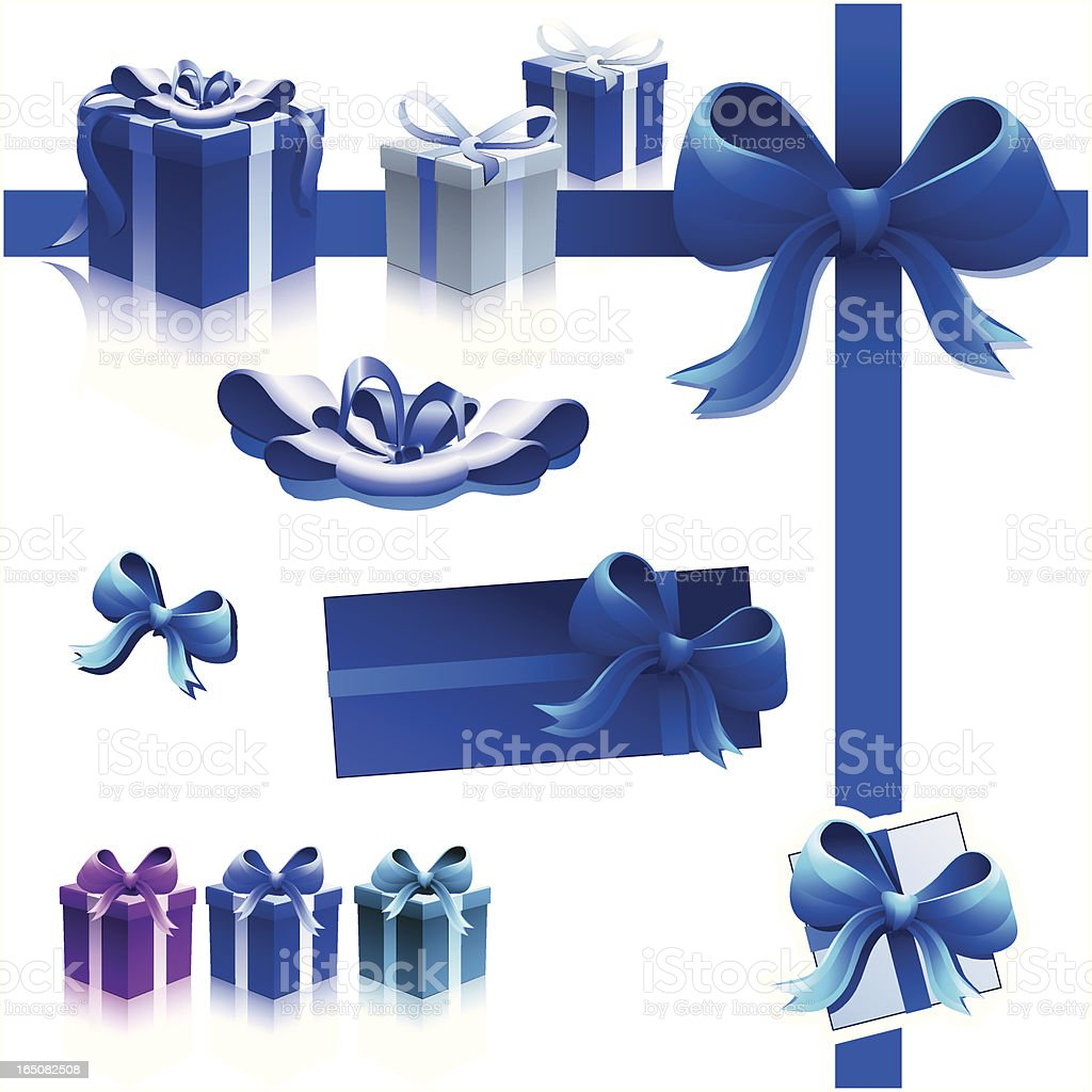 Gift & Presents Equipment BLUE royalty-free stock vector art