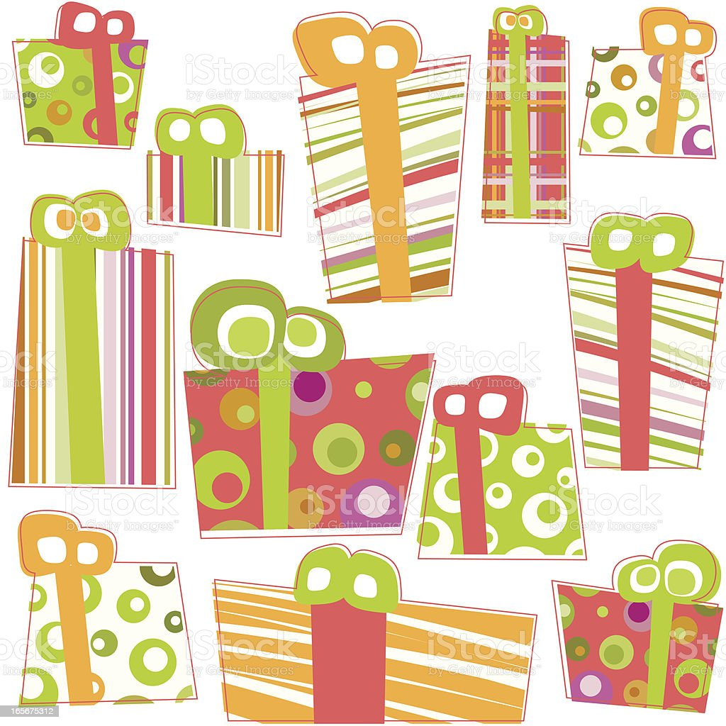 Gift seamless pattern royalty-free stock vector art