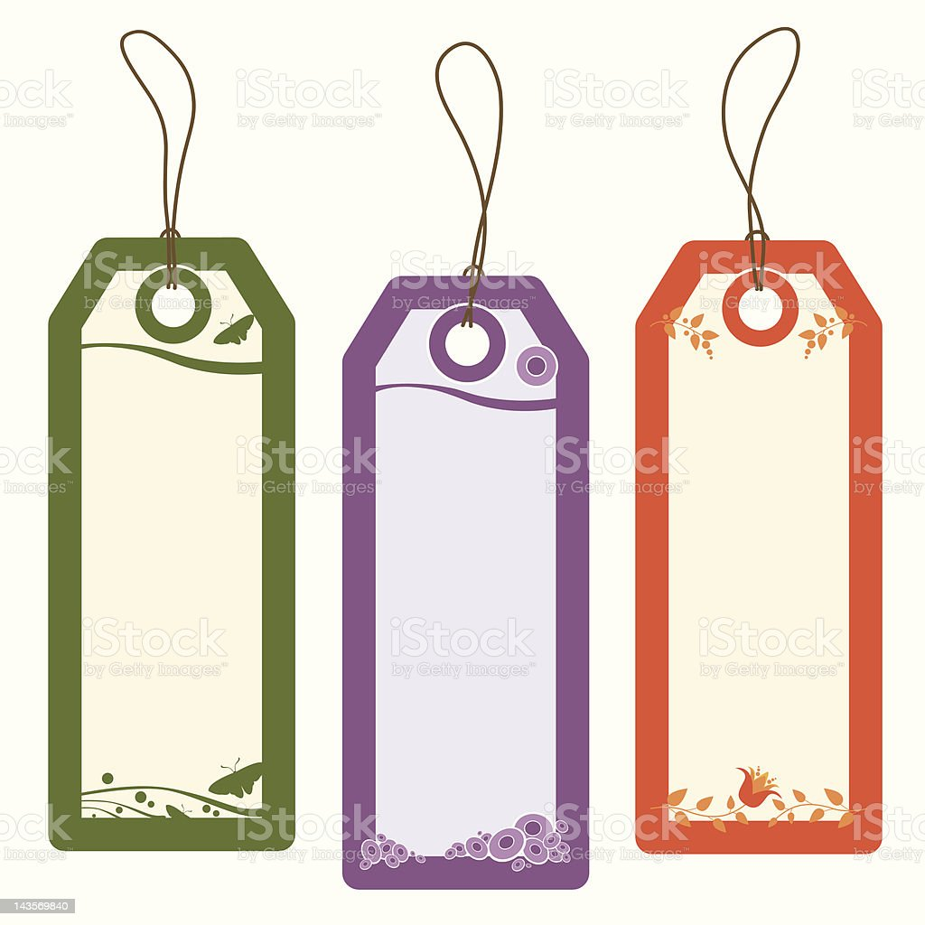 gift tags royalty-free stock vector art