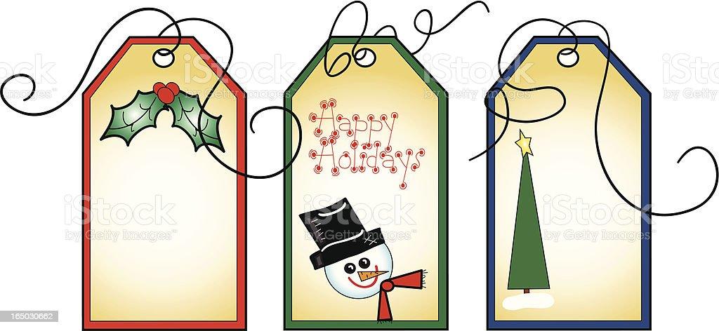 Gift Tags vector art illustration