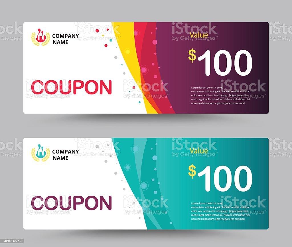 Gift voucher card template design. Coupon template. vector. vector art illustration