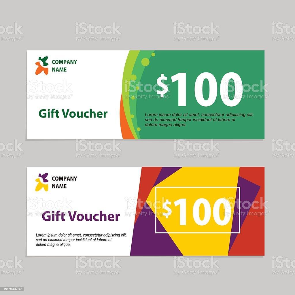 Gift Voucher Card Template Design stock vector art 637540732 – Voucher Card Template