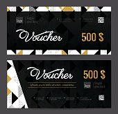 Gift Voucher Coupon discount. Elegant gift certificate template