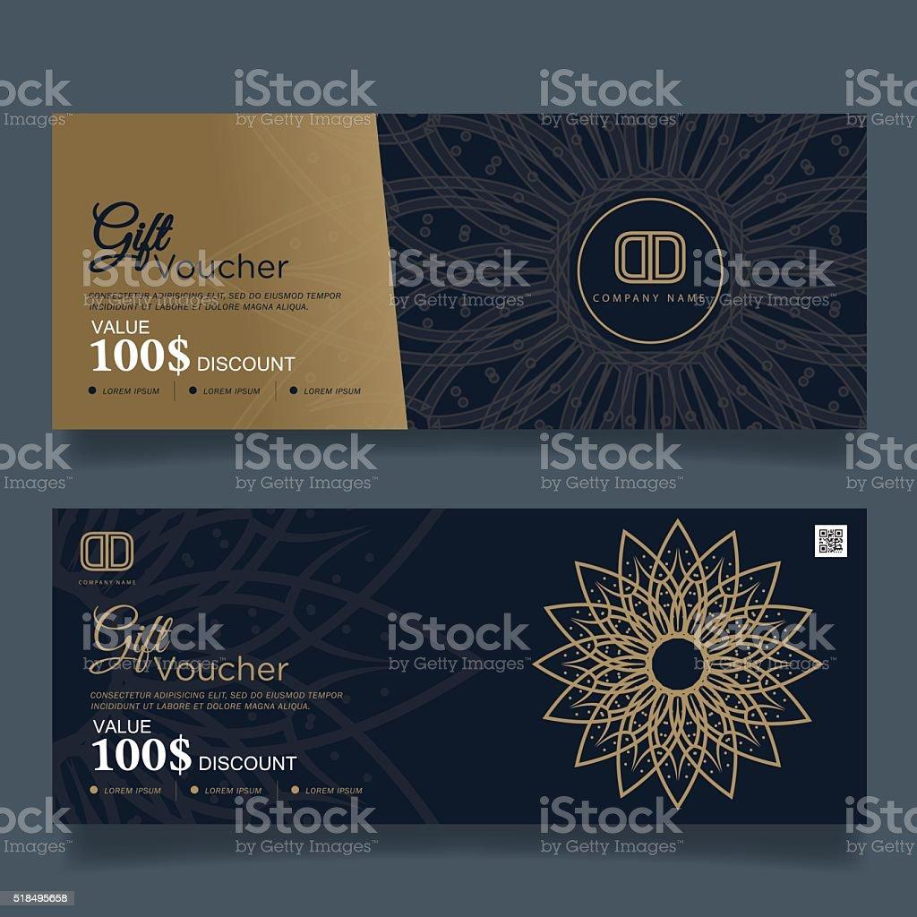 Gift Voucher Premier Gold.Vector vector art illustration
