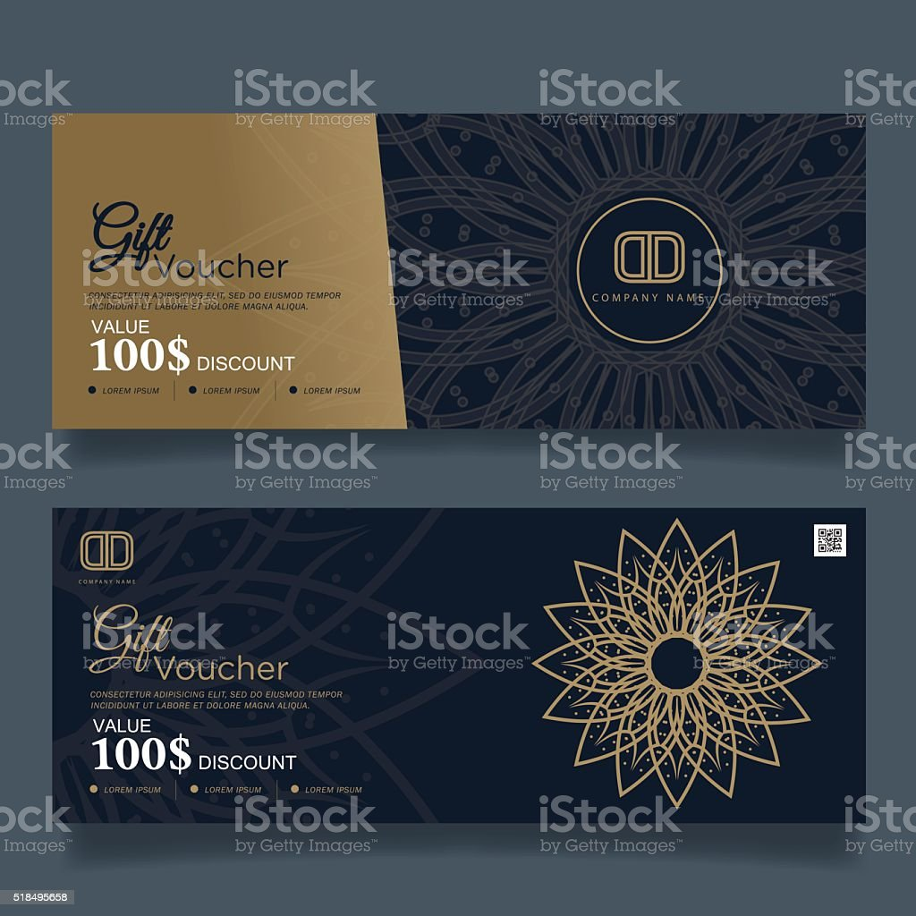 Gift Voucher Premier Gold.Vector vector art illustration