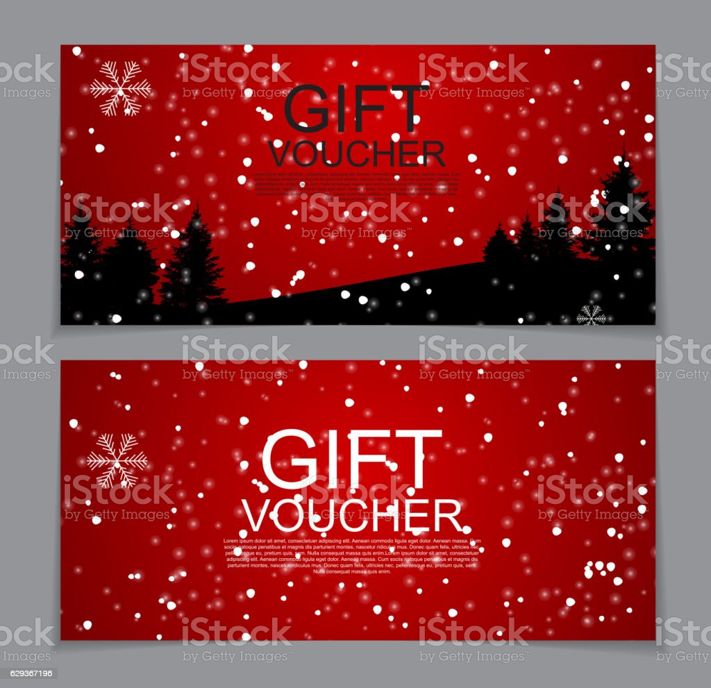 gift voucher template for christmas and new year discount coupon gift voucher template for christmas and new year discount coupon royalty stock vector art