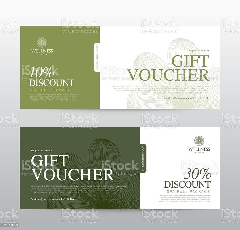 Gift Voucher template for Spa, Hotel Resort, Vector illustration vector art illustration