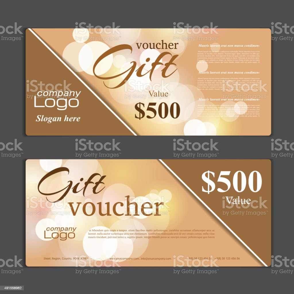 Gift Voucher template vector art illustration