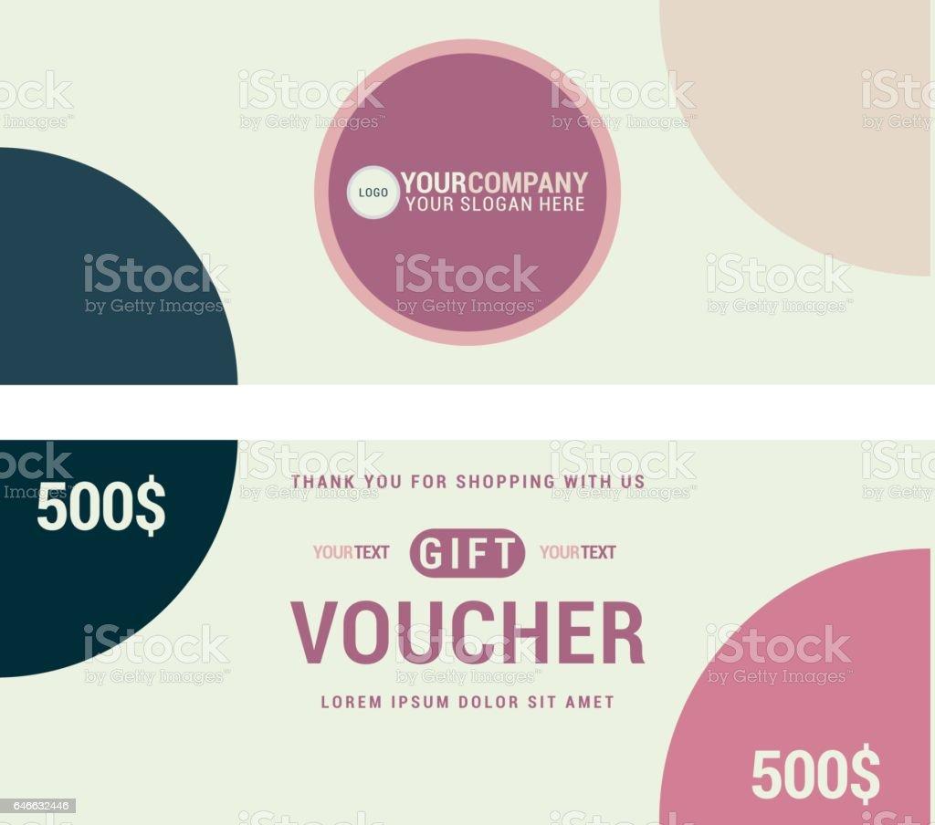 Gift Voucher Template Stock Vector Art 646632446 Istock