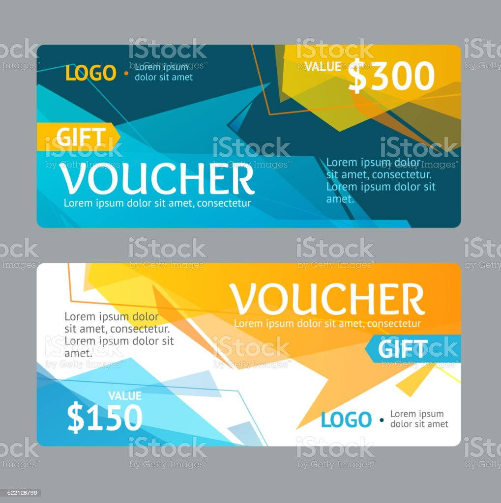 gift voucher template vector stock vector art 522128796 istock 1 credit