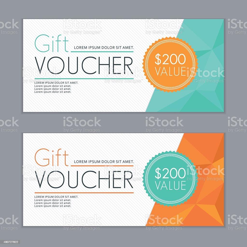 Gift Vouchers Template stock vector art 490727822 – Vouchers Template