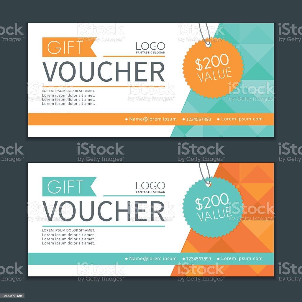 Gift Vouchers Template. vector art illustration