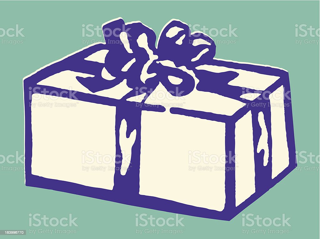 Gift with Bow vector art illustration